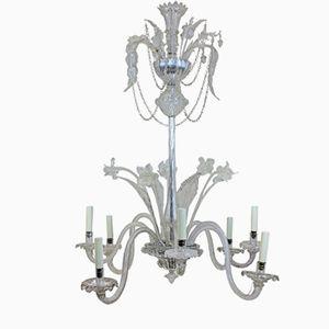 Lámpara de araña de cristal de Murano, años 30