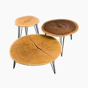 Tavolini da caffè Klyde di Mark Oliver, set di 3