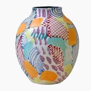 Jarrón RipBus de porcelana de Gur Inbar