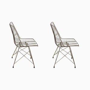 Chaises Vintage en Métal, 1950s, Set de 2