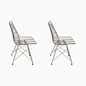 Vintage Wire Chairs, 1960s, Set of 2