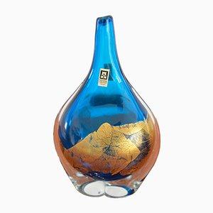 Maltesische Vase aus Glas von Michael Harris für Mdina, 1970er