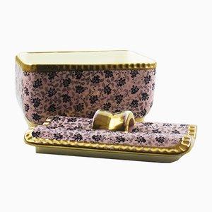 Mid-Century Bonboniere Box von Raymond Chevalier für Boch Frères, 1940er