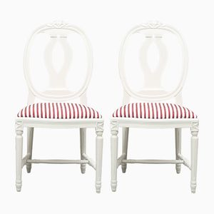 Gustavian Gooseneck Chairs, Set of 6