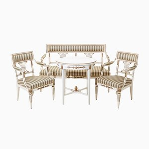 Gustavian Living Room Set, 1890s
