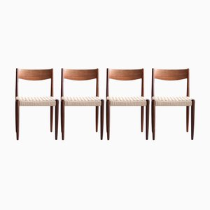 Teak Dining Chairs by Poul Volther for Frem Rojle, 1965, Set of 4
