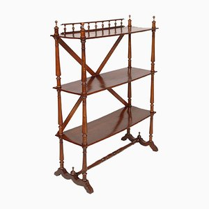 Antique Walnut Bookcase from Fratelli Mora Milano