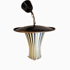 Lámpara de techo alemana vintage, años 50