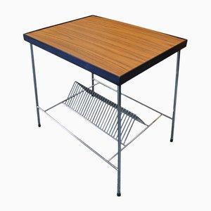 Table d'Appoint Porte-Documents / Porte-Disques Mid-Century, 1960s