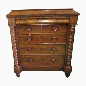 Antique Scottish Mahogany Chest of Drawers, 1880s