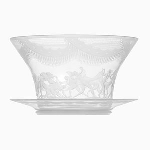 Antique Slöjdansen Glass Vase by Simon Gate for Orrefors, 1918