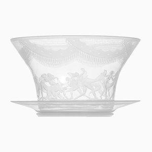 Antique Slöjdansen Glass Vase by Simon Gate for Orrefors, 1918