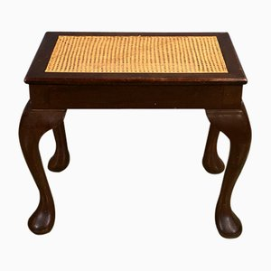 Antique Cane & Mahogany Footrest
