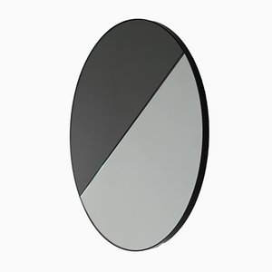 Extra Large Mixed Tint Dualis Orbis Round Mirror with Black Frame by Alguacil & Perkoff Ltd, 2019