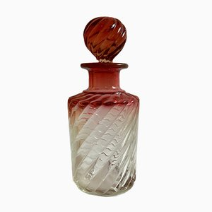 Boccetta da profumo antica a forma di bambù di Baccarat