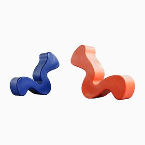 Phantom Seat par Verner Panton pour Innovation Randers, 1990s, Set de 2
