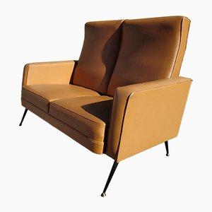 Vintage Faux Leather Sofa, 1960s
