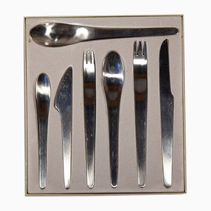 AJ 660 Cutlery Set by Arne Jacobsen for Anton Michelsen, 1950s, Set of 28