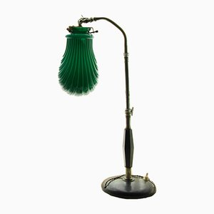 Green Art Deco Table Lamp, 1930s