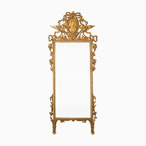 Antique Italian Gilded Wood Mirror, 1870s