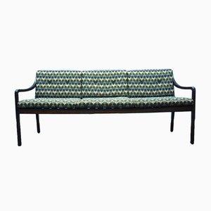 Mid-Century Mahogany Bench, 1960s