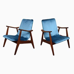 Lounge Chairs by Louis Van Teeffelen for WéBé, 1960s, Set of 2