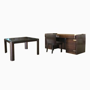Escritorio, mesa y silla vintage de Bruno Paul para WK Möbel
