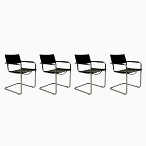 MG5 Dining Chairs by Mart Stam for Matteo Grassi, 1970s, Set of 4