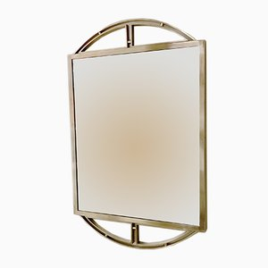 Vintage Brass Wall Mirror, 1970s