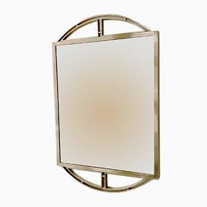 Vintage Brass Wall Mirror, 1970s