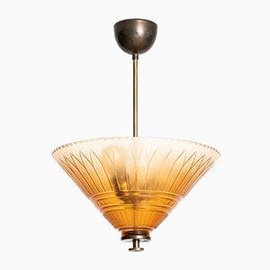 Lámpara de techo vintage de Orrefors, años 30
