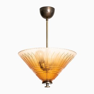 Vintage Ceiling Lamp from Orrefors, 1930s