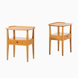 Swedish Bedside Tables from Nordiska Kompaniet, Set of 2