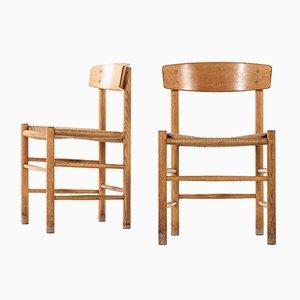 Vintage J39 Esszimmerstühle von Børge Mogensen für FDB Møbler, 1960er, 15er Set