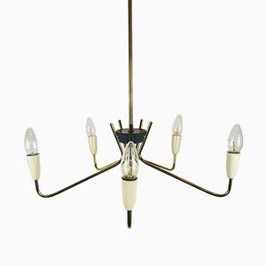 Lámpara de araña Sputnik Mid-Century de seis brazos, años 60