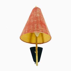 Lampada da parete Mid-Century con paralume in tessuto di Lunel, anni '60