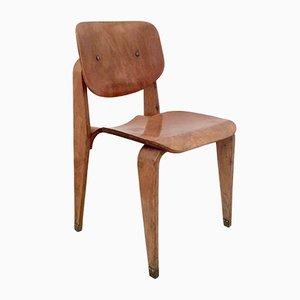 Mid-Century Stuhl aus Schichtholz von Corbetta, 1950er