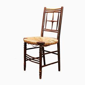 Antike schwarz gebeizte Stühle von Edward Burne Jones für Morris & Co., 3er Set