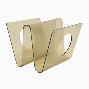 Vintage Magazine Rack by Michel Dumas for Altuglas, 1970s