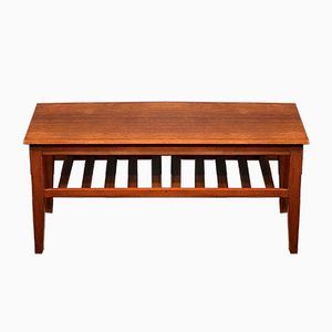 Mid-Century Teak Slatted Coffee Table by Herbert Gibbs