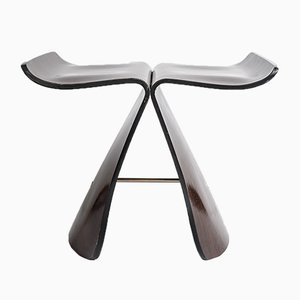 Mid-Century Bent Plywood & Rosewood Butterfly Stool by Sori Yanagi, 1954