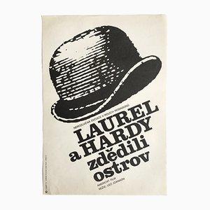 Vintage Laurel & Hardy's Utopia Filmposter von František Šubrt, 1975