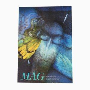 Vintage The Magician Filmposter von Veronika Palečková, 1987