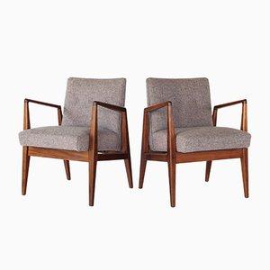 Mid-Century Sessel aus Nussholz von Jens Risom