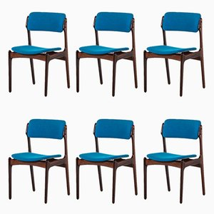 Vintage OD-49 Dining Chairs by Erik Buck for Oddense Maskinsnedkeri, Set of 6