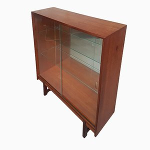 Mid-Century Glass Fronted Teak Cabinet