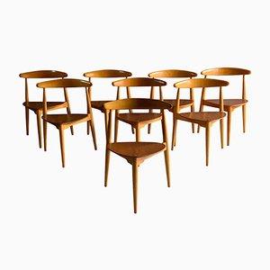Chaises de Salon FH 4103 par Hans Wegner pour Fritz Hansen, 1950s, Set de 8