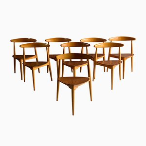 FH 4103 Dining Chairs by Hans Wegner for Fritz Hansen, 1950s, Set of 8