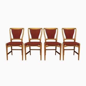 Dänische Vintage Stühle, 1950er, 4er Set