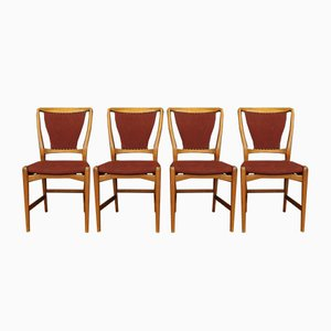 Vintage Danish Chairs, 1950s, Set of 4